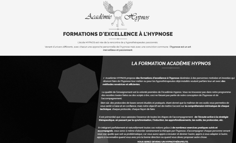 page d'accueil academie-hypnos.fr
